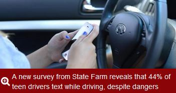 Teens were asked what would stop them from texting while driving