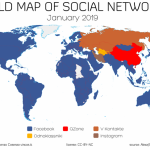 The 2019 World Map of Social Networks