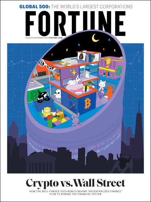 FORTUNE's NFTs feature its Aug./Sept. 2021 cover art by pplpleasr.